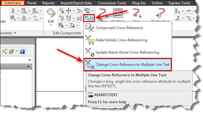 AutoCAD Electrical: Modifying the Source and Destination