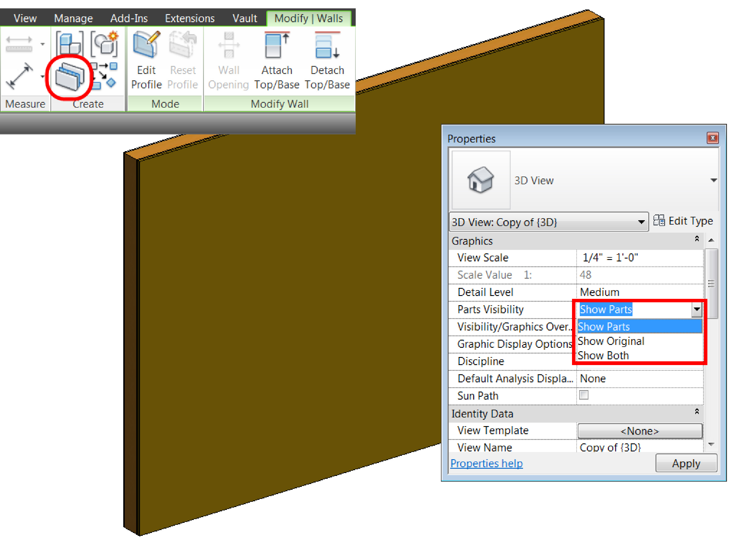 Using Parts in Autodesk® Revit® | Synergis Engineering