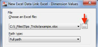 Linking Dimensions and Parametric Values into Excel: AutoCAD
