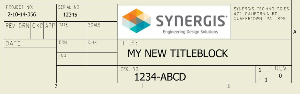 Importing The Autocad Title Block To Inventor Synergis Engineering