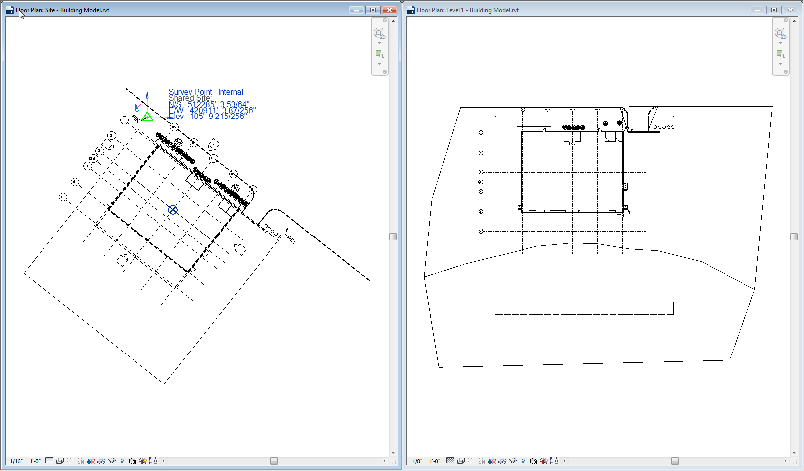Using Revit's Coordinates to establish Control for use with